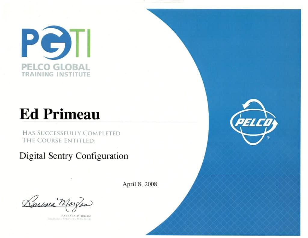 Pelco Digital Sentry Configuration Ed Primeau
