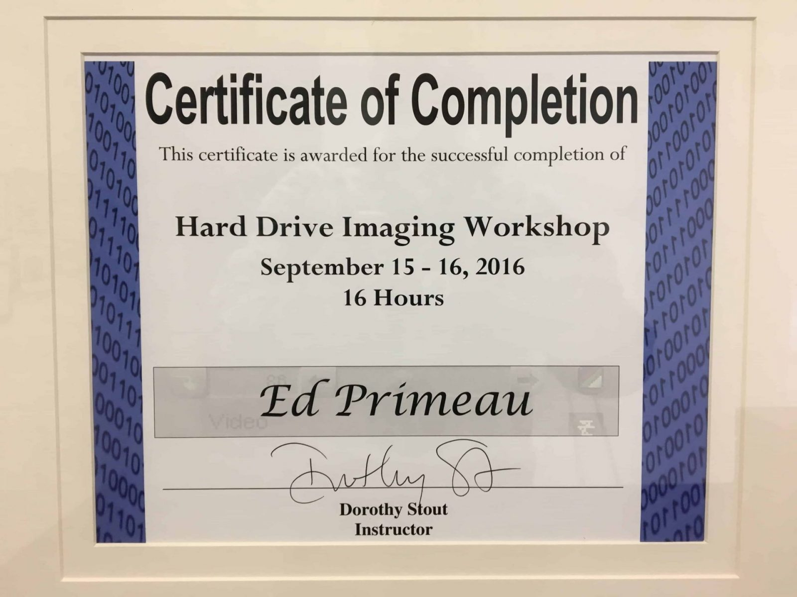 Hard-Drive-Imaging-Workshop-Edward-Primeau Meet Edward Primeau, CCI, CFC