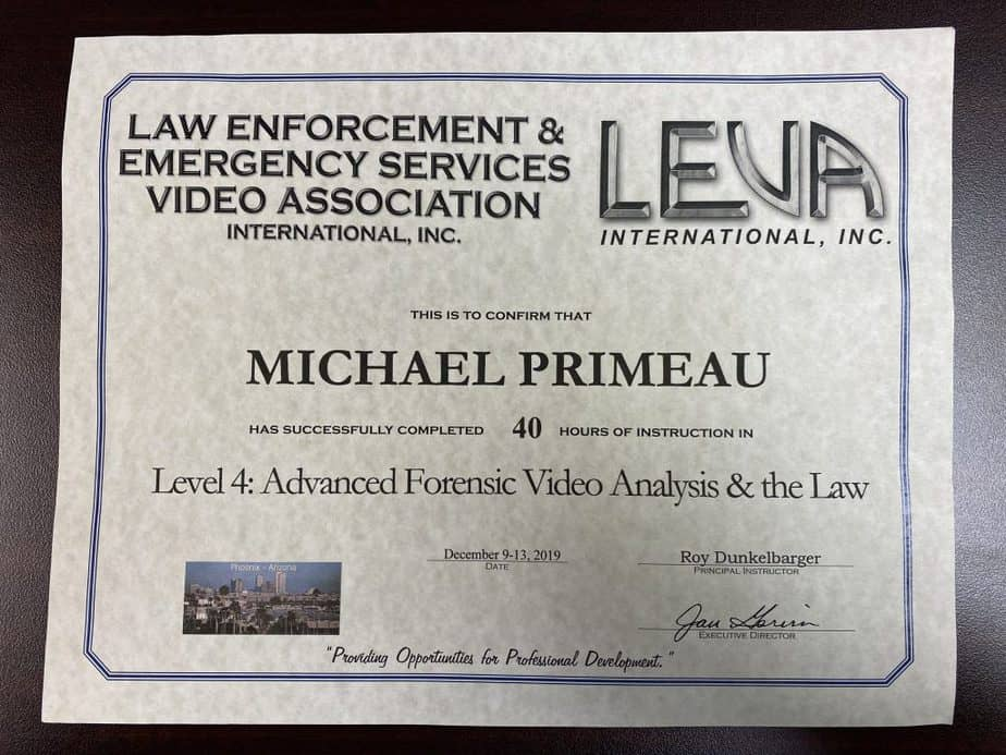 advanced forensic video analysis and the law